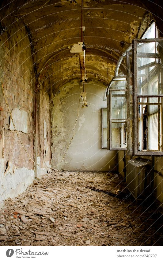 Beautiful Loneliness Window Wall (building) Architecture Stone Wall (barrier) Building Going Exceptional Dirty Esthetic Gloomy Uniqueness Factory Derelict