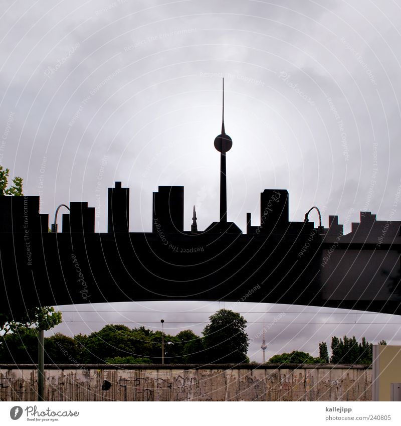 double Vacation & Travel Tourism Trip Sightseeing City trip Capital city House (Residential Structure) Looking Silhouette Berlin TV Tower The Wall