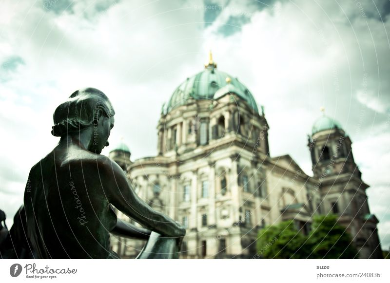 Woman Sky Clouds Adults Environment Architecture Building Berlin Religion and faith Art Germany Weather Tourism Europe Church Culture