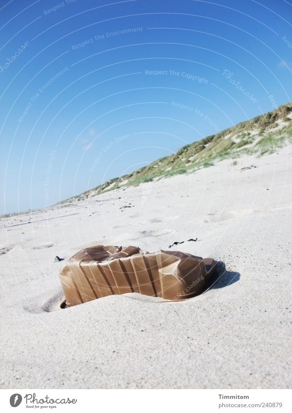 Sky Nature Summer Beach Environment Landscape Sand Exceptional Esthetic Beautiful weather Plastic Trash North Sea Blue sky Plastic packaging Environmental pollution
