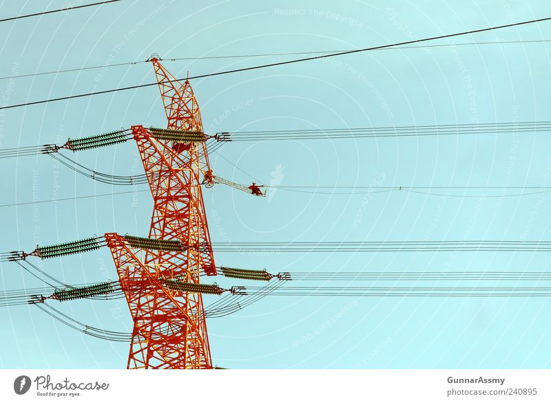 Blue Red Line Energy industry Rope Technology Industry Cable Sign Services Steel Craft (trade) Craftsperson Workplace Electrical equipment Infrastructure
