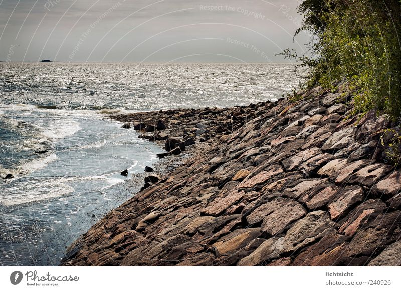 Nature Ocean Vacation & Travel Far-off places Stone Landscape Coast Waves Weather Horizon Island Vantage point Point Bay Elements North Sea