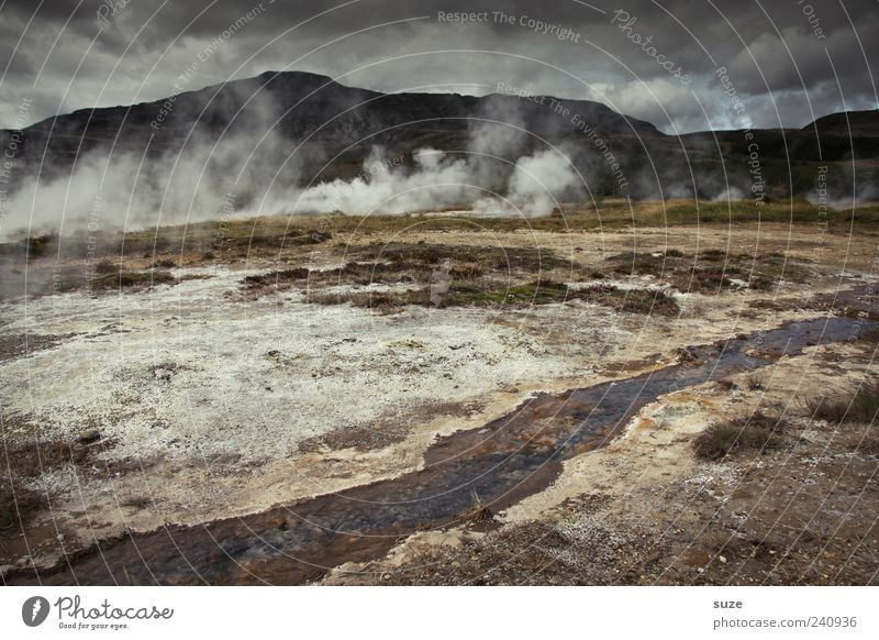 Nature Environment Landscape Dark Mountain Climate Exceptional Tourism Gloomy Hot Smoke Iceland Tourist Attraction Hell Source Steam