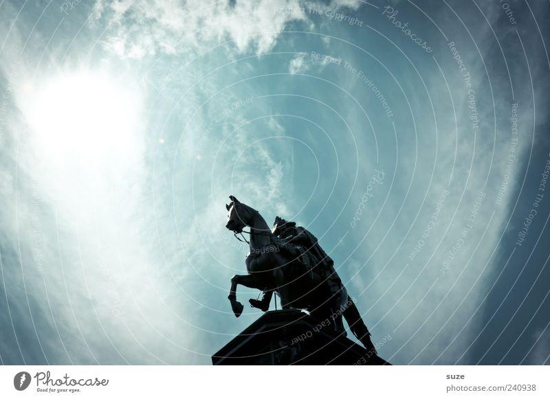 Sky Blue Sun Clouds Berlin Stone Art Germany Illuminate Europe Esthetic Culture Symbols and metaphors Horse Historic Monument