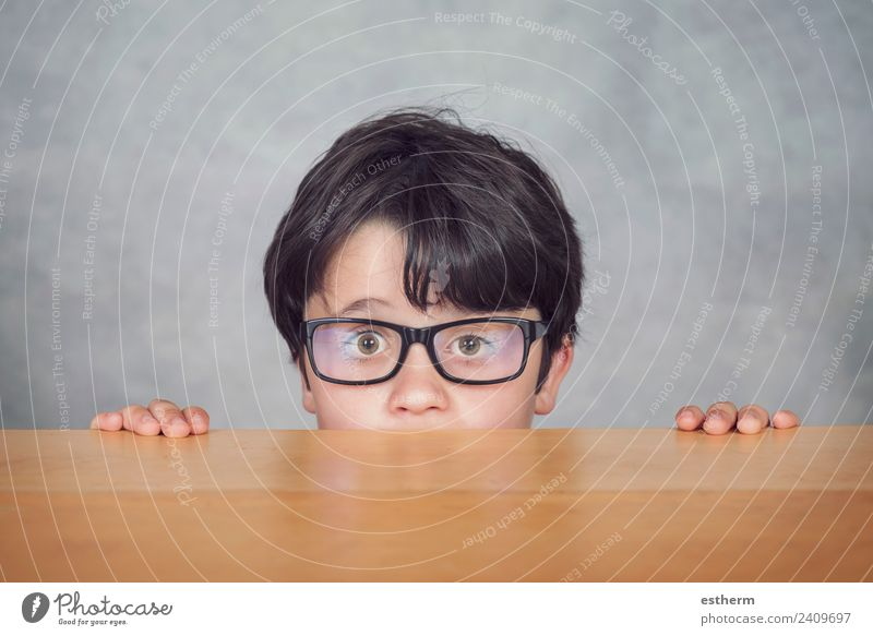 boy with glasses Lifestyle Joy Education Schoolchild Student Human being Masculine Child Toddler Boy (child) Infancy 1 8 - 13 years Eyeglasses Movement Discover