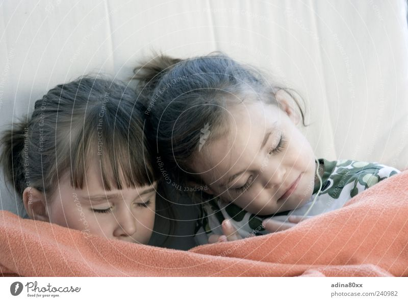Well insured Child Brothers and sisters Sister Family & Relations Sleep Dream Emotions Moody Contentment Trust Safety Safety (feeling of) Warm-heartedness