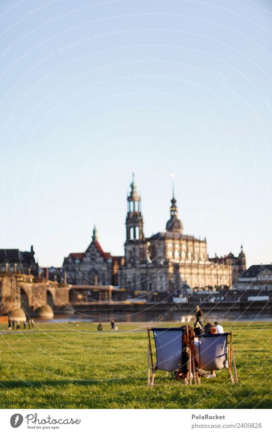#A# Spring in Dresden Tourist Attraction Esthetic Cosmopolitan Elbufer Saxony Relaxation Leisure and hobbies Public Holiday Dresden Hofkirche Augustusbrücke