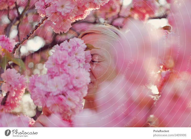 #A# Hay fever in pink Art Work of art Esthetic Spring Spring fever Spring flower Spring day Spring colours Spring celebration Odor Fragrance Pink Rose glasses