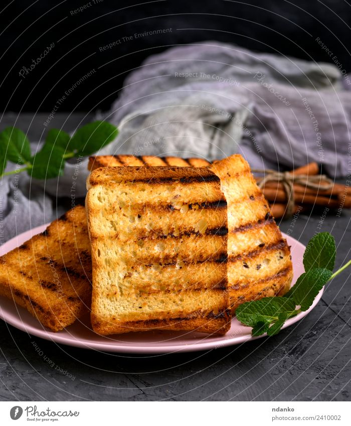 fried French toast Bread Breakfast Lunch Plate Delicious Brown White french background Cereal Slice Wheat food healthy Sliced square grain Tasty Meal Sandwich
