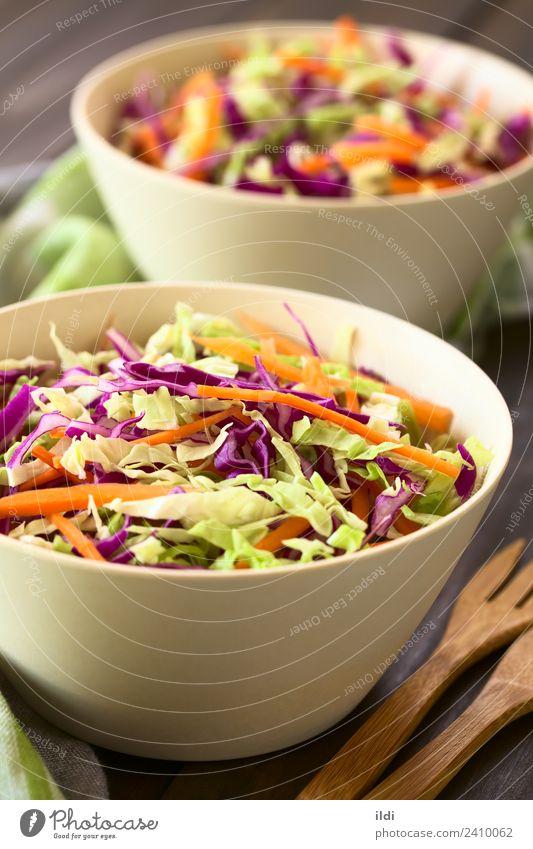 Coleslaw Dish Healthy Fresh Vegetable Meal Vegetarian diet Lettuce Salad Vertical Cut Carrot Raw Snack Home-made