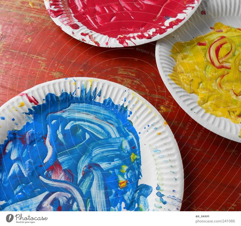 Blue White Red Yellow Dye Art Dirty Wild Esthetic Decoration Uniqueness Painting (action, artwork) Idea Fluid Joie de vivre (Vitality) Enthusiasm