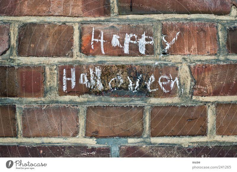 Wall (building) Wall (barrier) Happiness Characters Brick Typography Chalk Hallowe'en Daub Handwriting Brick wall