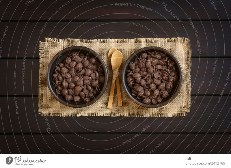 Chocolate Corn Flakes Breakfast Cereal Sweet Meal Horizontal Rustic Snack Maize Crunchy Crisp Processed Cornflakes