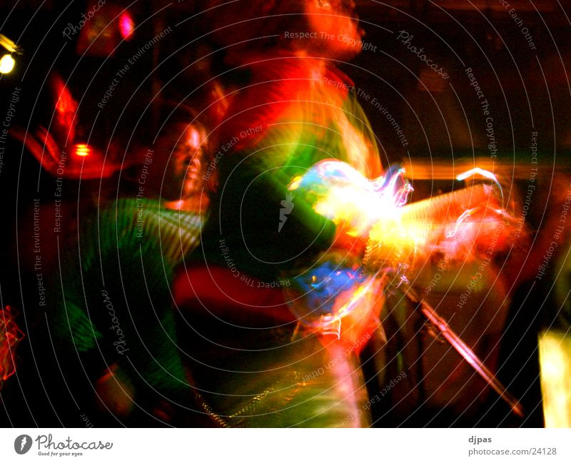 rainbow guitarist Song Multicoloured Rainbow Long exposure Group ty Guitar Movement