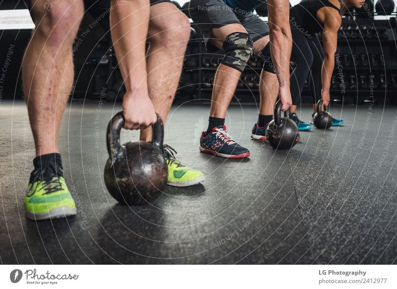 Workout class in gym Lifestyle Club Disco Sports Human being Adults Group Clothing Fitness Authentic Strong Gray Power Determination Practice healthy
