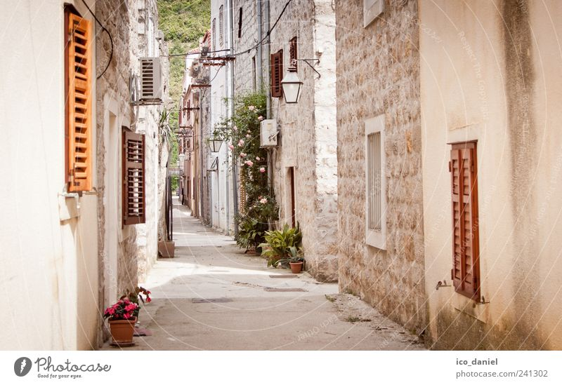 Ston III - narrow streets in Croatia Vacation & Travel Tourism Trip Sightseeing clay Europe Village Small Town Downtown Deserted House (Residential Structure)