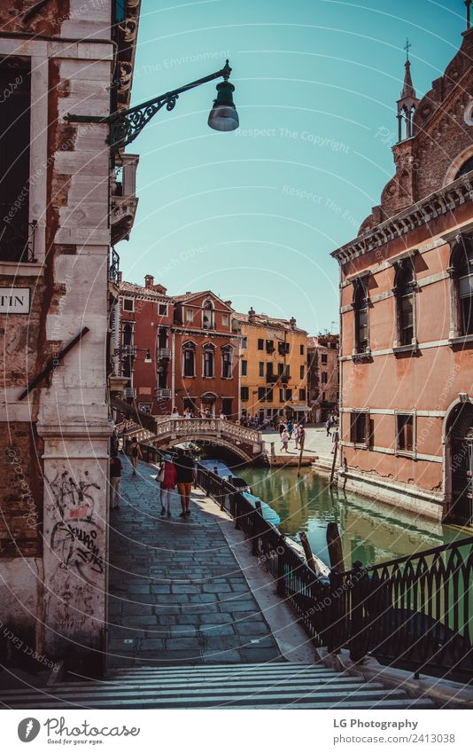 Italian town of Treviso Vacation & Travel Climate Tree River Building Street Watercraft Hang Blue Italy colourful pastel European italia wall Venice sile comune