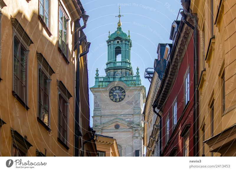 Church in the centre of Stockholm House (Residential Structure) Manmade structures Building Architecture Wall (barrier) Wall (building) Facade Large Beautiful