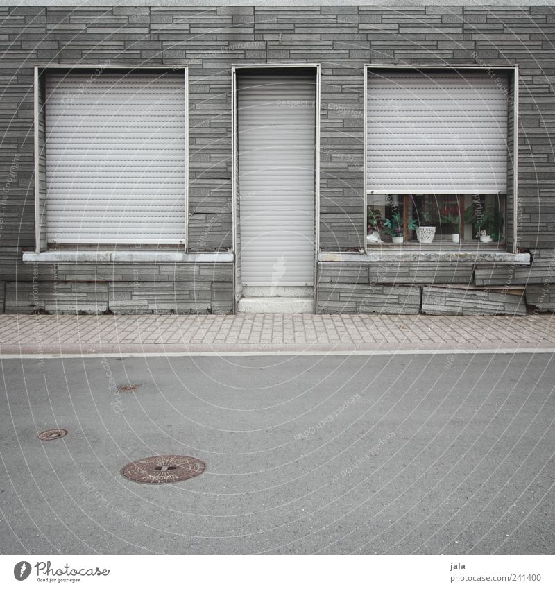 House (Residential Structure) Street Window Wall (building) Architecture Gray Lanes & trails Wall (barrier) Building Door Facade Gloomy Manmade structures Brick