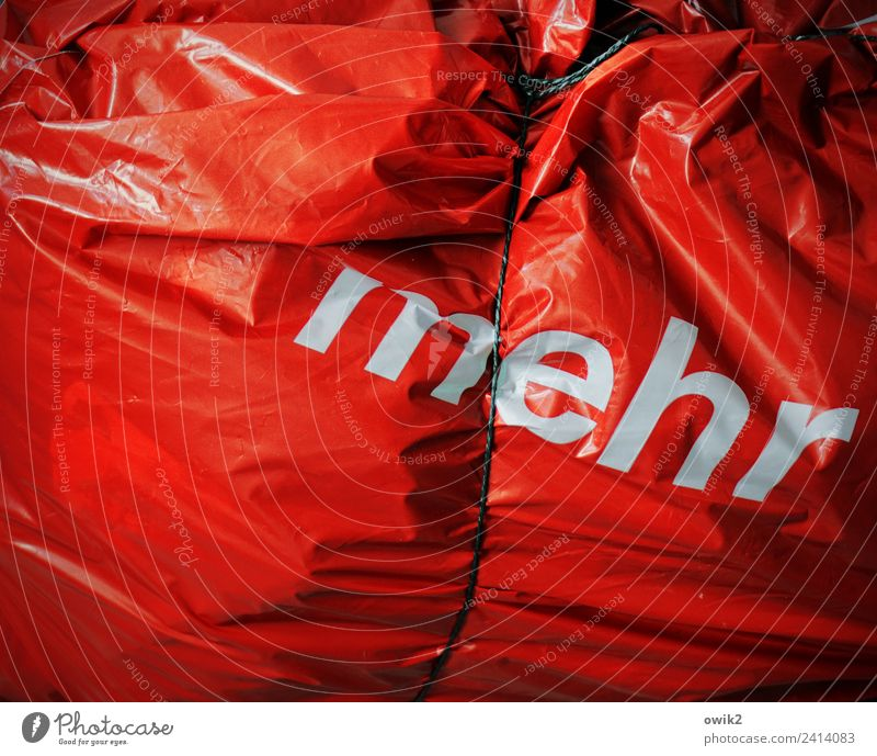 Thick and stupid Plastic bag String Closure Characters Fat Firm Creepy Many Avaricious Stupid Gluttony Lack of inhibition Distress Wrinkles Glittering Red