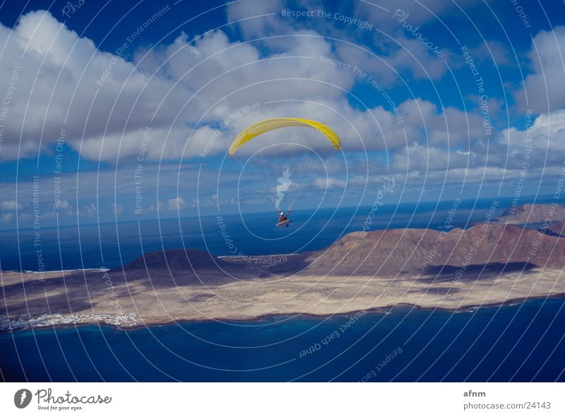 Ocean Sports Island Paraglider Parachute Lanzarote Flying sports