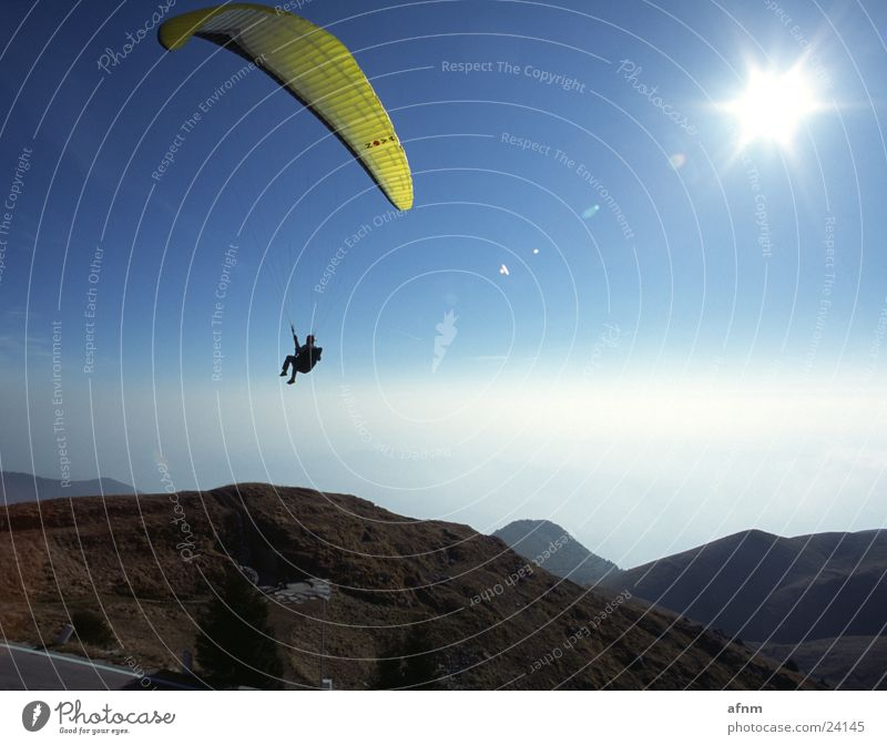 Only flying is more beautiful II Flying sports Sports Nova Umbrella paraglider Sky Mountain Sun
