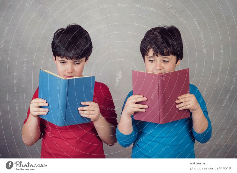 children reading a book Child Human being Joy Lifestyle Movement Boy (child) School Think Friendship Masculine Infancy Smiling Happiness Study Paper Curiosity
