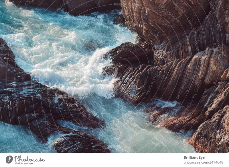 calm down Ocean Waves Nature Elements Water Spring Climate Wind Gale Rock Coast Lakeside Fight Threat Natural Rebellious Emotions Power Might Effort Movement