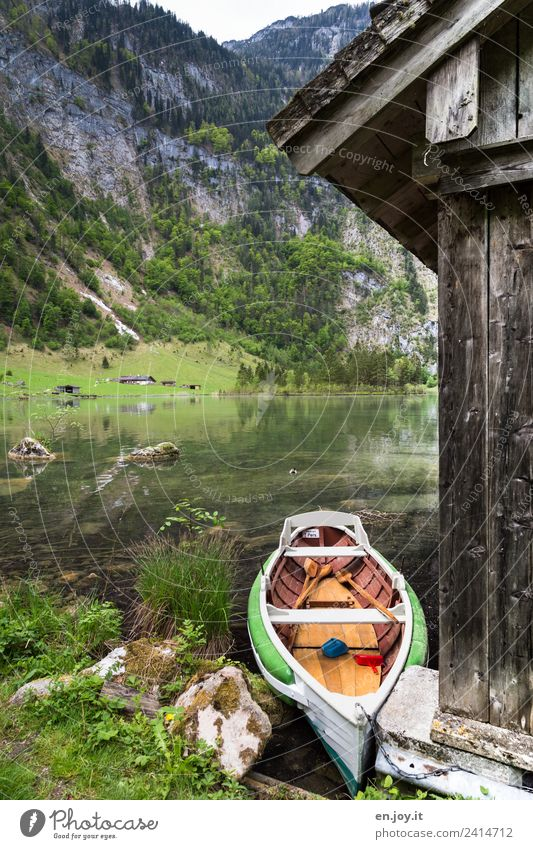 Nature Vacation & Travel Summer Landscape Calm Mountain Tourism Freedom Lake Trip Watercraft Leisure and hobbies Idyll Adventure Alps Lakeside