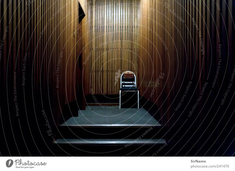 Loneliness Far Off Places Dark Interior Design Office Room Fear Crazy Threat School Building Chair Buy This Royalty Free