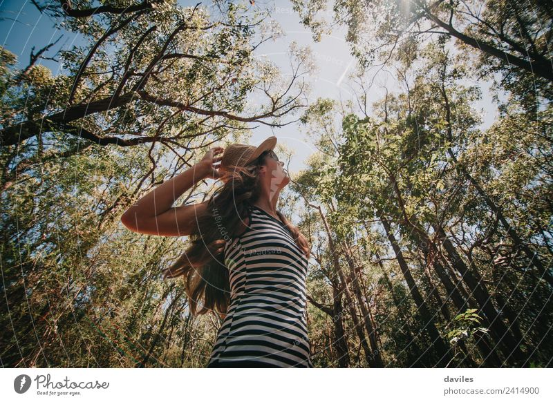 Cute woman enjoying the australian forest. Lifestyle Relaxation Leisure and hobbies Vacation & Travel Adventure Freedom Summer Hiking Human being Woman Adults