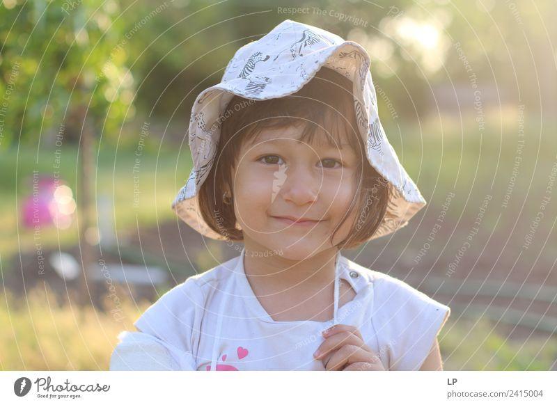 Little girl smiling Lifestyle Parenting Education Kindergarten Human being Feminine Child Baby Toddler Girl Family & Relations Infancy Observe To enjoy Emotions
