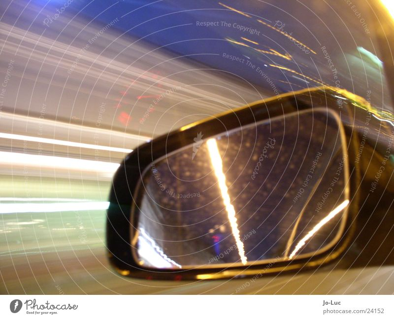 in the flow Night Long exposure Highway Driving Speed Vehicle Mirror Light Transport Street Car
