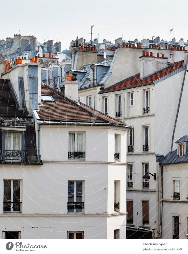 Paris Old House (Residential Structure) Building France French Montmartre Apartment Building