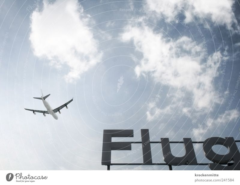 Sky Blue Vacation & Travel Clouds Airplane Flying Free Transport Aviation Characters Airplane takeoff Wing Airport Goodbye Airplane landing Wanderlust