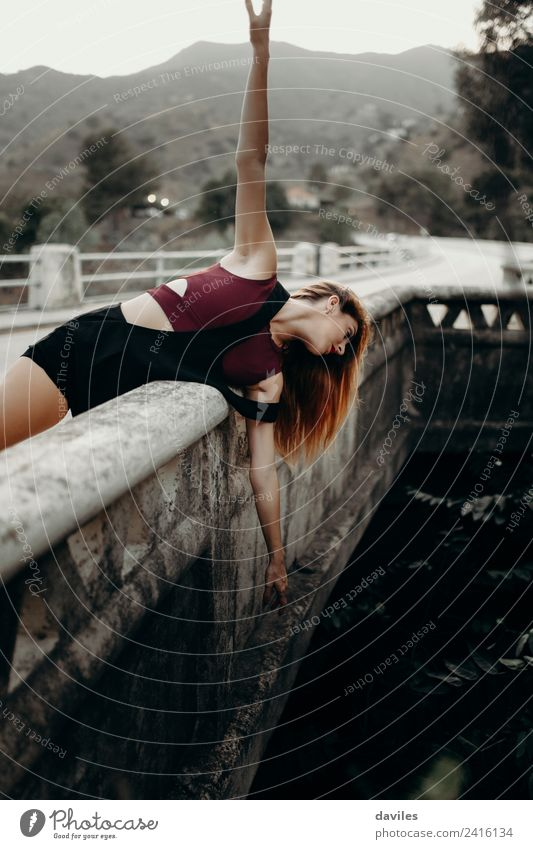 Alternative portrait of woman in a bridge over the river. Lifestyle Beautiful Vacation & Travel Tourism Human being Woman Adults 18 - 30 years