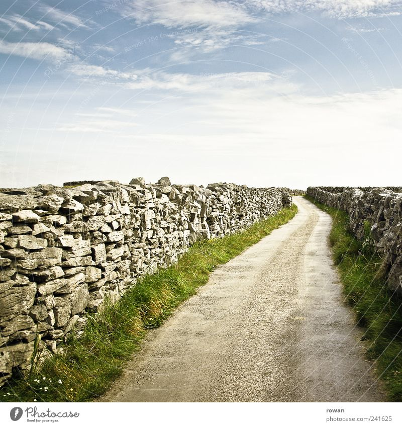 dirt road Hiking Relaxation Tourism Lanes & trails Far-off places Footpath Ireland Stone Horizon To go for a walk Target Colour photo Exterior shot Deserted