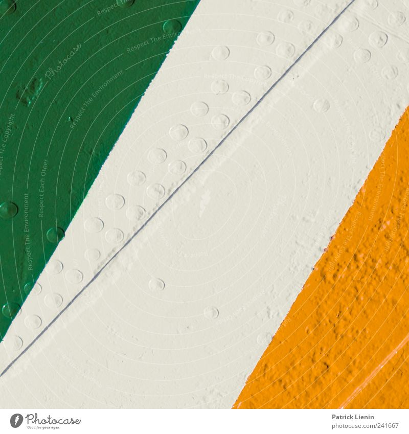 Colours Transport Navigation Watercraft Varnish Line Green Red White Discover Competent Safety Symmetry Circle Surface Rough Colour photo Multicoloured