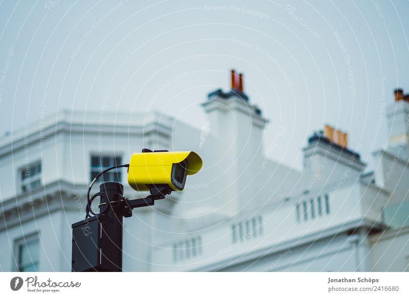 Town Building Facade Fear Arrangement Dangerous Threat Safety Fear of the future Trust Watchfulness Politics and state Video camera England Data Surveillance