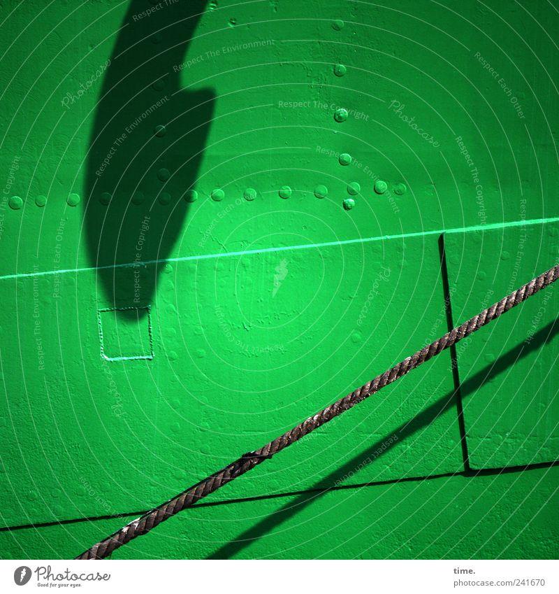 Green Watercraft Metal Rope Upward Parallel Stitching Rivet Ship's side