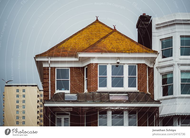 House facade in England Brighton Town Downtown House (Residential Structure) Detached house Manmade structures Building Architecture Facade Esthetic English