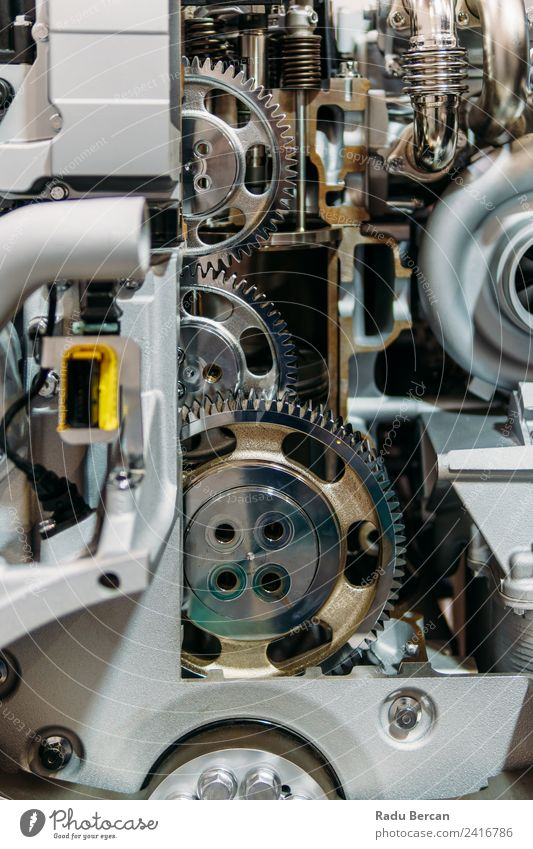 Cogs, Gears and Wheels Inside Truck Diesel Engine Design Work and employment Factory Industry Machinery Engines Technology Transport Vehicle Car Metal Steel