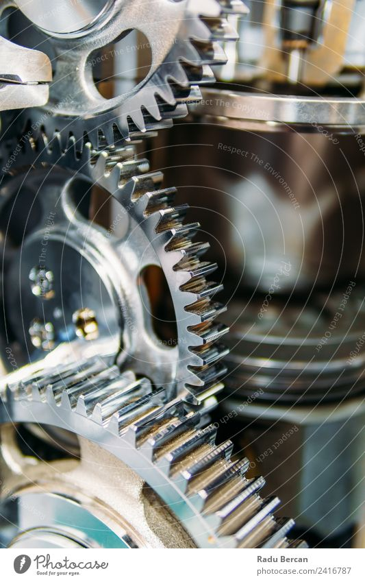 Cogs, Gears and Wheels Inside Truck Diesel Engine Movement Work and employment Design Car Metal Technology Industry Factory Steel Teamwork Vehicle