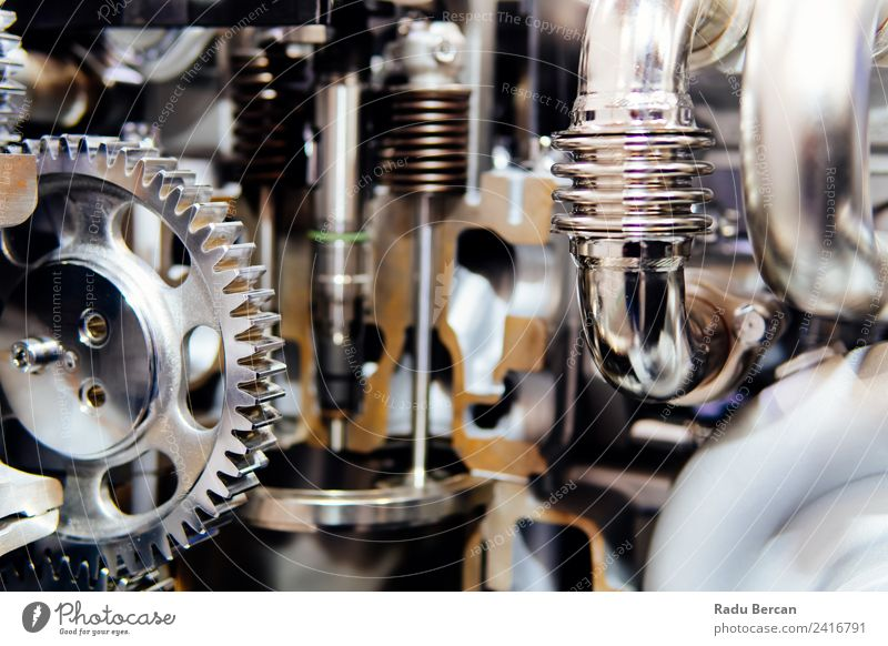 Cogs, Gears and Wheels Inside Truck Diesel Engine Design Work and employment Factory Industry Machinery Engines Technology Vehicle Car Metal Steel Movement