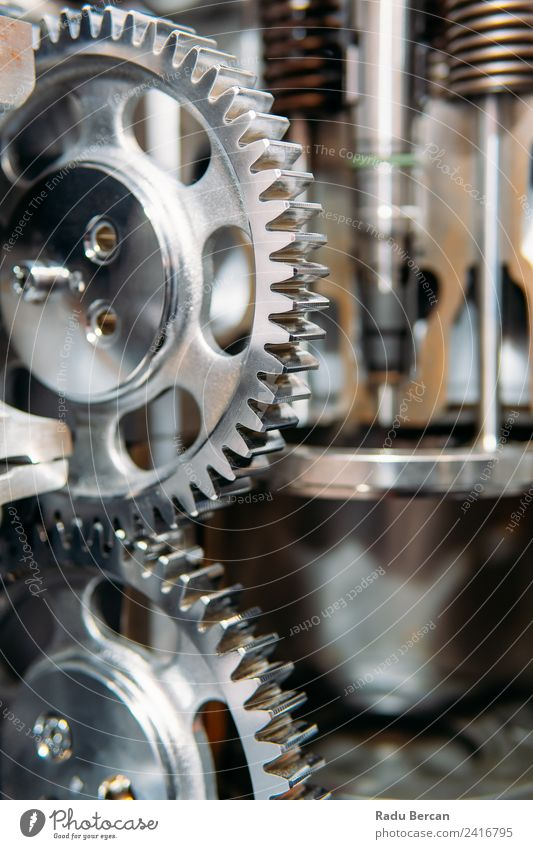 Cogs, Gears and Wheels Inside Truck Diesel Engine Movement Work and employment Design Car Metal Technology Industry Construction site Factory Steel Teamwork