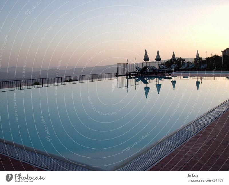 Water Sun Blue Summer Calm Europe Swimming pool Basin Azure blue