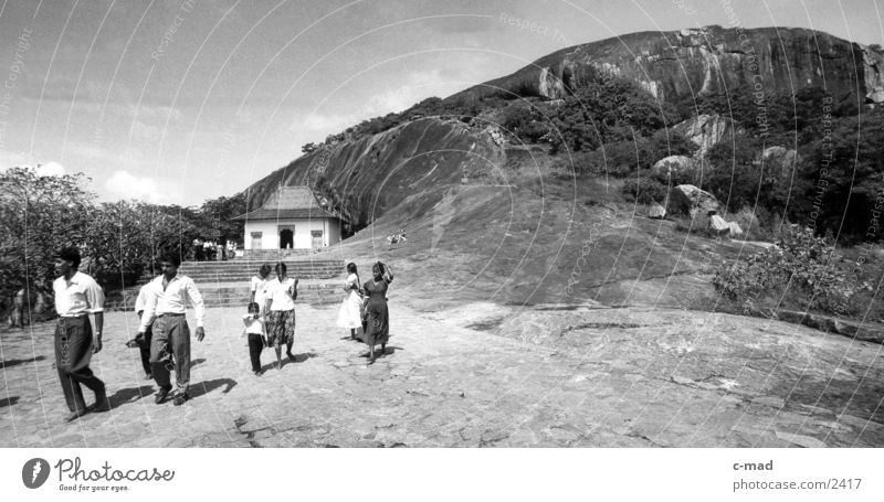 Dambulla - Sri Lanka Gal Vihara Los Angeles Buddha Human being Black & white photo