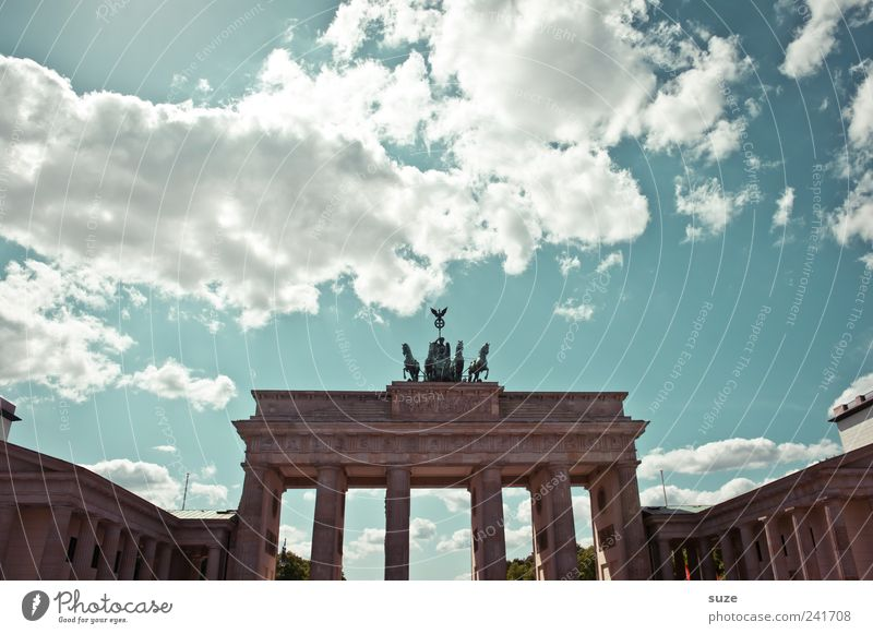 Sky Blue Clouds Environment Architecture Berlin Art Germany Tourism Europe Beautiful weather Places Esthetic Culture Symbols and metaphors Horse