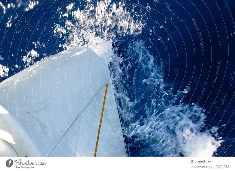 Water Blue White Summer Ocean Movement Energy Esthetic Logistics Longing Under Beautiful weather Navigation Dynamics Wanderlust Sailboat