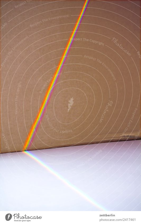 Visible spectrum Prism Light Refraction Strip of light Beam of light Cardboard Rainbow Prismatic colors Prismatic colour Spectral Colour Multicoloured